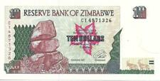 ZIMBABWE 10 Dollars, P- 6, UNC from 1997, Nice Note * Chilolo Cliffs