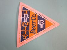 Beer Coaster ~ TRINITY Beer Co Dinomite Light, RIIPA+ ~ Providence, RHODE ISLAND
