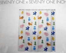 Cotton Clay NIP Bath Shower Curtain Animals Kids Vinyl 71 x 71""