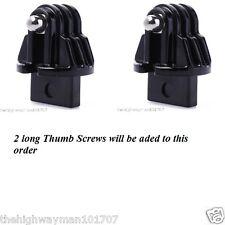 2XGenuine GoPro FCS Plug Kit Surfboard mounts for all GoPro4321 cameras + screws