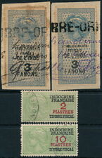 France, French Indochina Lot Of 4 Diff. Values Used Revenues. #N991