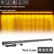 52 INCH LED Emergency Warning Amber Directional Strobe Light Bar Traffic Advisor