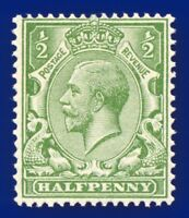 1915 SG354 ½d Pale Yellow-Green N14(-) Unlisted Hendon shade MNH agkj