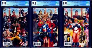 Justice Society of America #26 CGC 9.8 LOT OF 3 ALEX ROSS CONNECTING COVERS