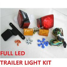 FULL LED Trailer Light Kit Submarine Turn,Stop,Marker Submersible Utility Boat