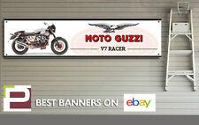 MOTO GUZZI V7 RACER MOTO Banner per officina, garage 1300mm x 325mm