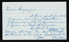 Jimmy Jim W. Moore (d. 1986) signed autograph 3x5 card Baseball Player C2363