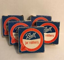NOS Box of Vintage Ball Good Luck JAR RUBBERS Split Tab Lot of 60 = 5 Boxes