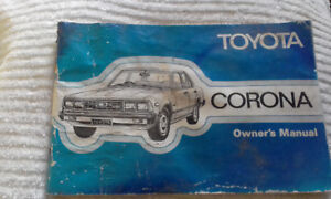 Toyota Corona T130 Owners Manual 1980 Rough cond. vintage collectible