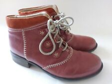 LADIES LEATHER ANKLE BOOTS BY JOSEF SEIBEL, UK 5 / EU 39, CONKER BROWN, £120.