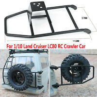 Para RC 1/10 Land Cruiser LC80 Metal Spare Tire Seat Simulation Climbing Holder