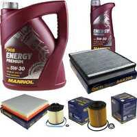 Ölwechsel Set 6L Mannol Energy Premium 5W-30 + SCT Inspektions Service 10756668
