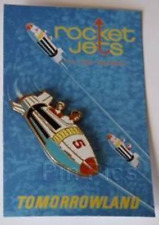 Disney Pin 66974 WDI Rocket Jets Pin & Attraction Poster Cast Member LE 300 MOC