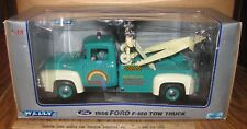 1956 Ford F100 Dually Tow Truck Wrecker & Display Stand 1:18 Welly #9834 Rainbow