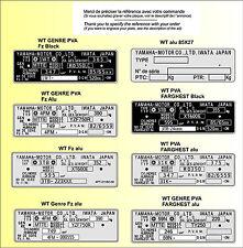 PLAQUES CONSTRUCTEUR motos YAMAHA IWATA - VIN plates YAMAHA IWATA