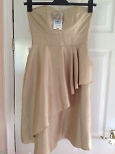 BNWT M&S AUTOGRAPH Gold Prom / Bridesmaid Dress Size 8 RRP £59.00