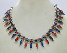 Vintage antique ethnic tribal old silver jewelry Reversible Necklace Pendant Ind