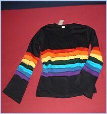 Nuevo * M * Rainbow patchwork camisa Boho Goa hippy punk trance 70er monstruos free size