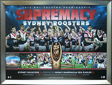 Sydney Roosters 2013 Premiers Limited Edition NRL Premiership Print Framed
