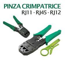 PINZA CRIMPATRICE CAVO DI RETE CONNETTORI RJ11 RJ45 RJ12 LAN FILO TELEFONO