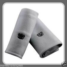 *BRAND NEW* BABY UNISEX SOFT WHITE FLEECE TEDDY BEAR EMBROIDERED WRAPS 2 PACK