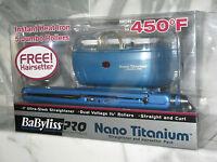 """BabyLiss Pro Nano Titanium Straightening Iron 1"""" with FREE Hairsetter. BABNTPP11"""