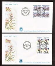 SABD 227 GREENLAND 1992 FDC FULL SET BLOCK OF 4 POLAR FLORA FLOWERS AMMASSALK
