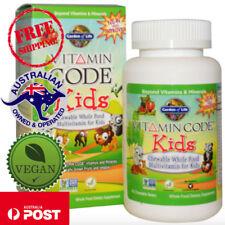 Garden of Life Vegan Vitamin Code Kids Whole Food Multivitamin 60 Chewable Bears