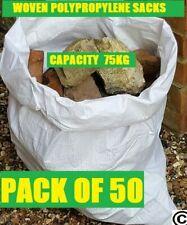 More details for 50 x tough woven polypropylene builder rubble sacks bags. ** ultra strong **