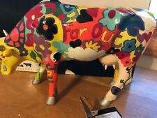"""cowparade Groovy Moo by Kay Ormund. A large cow 12"""" x 8"""". New in box with tag."""