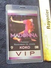 Madonna 2005 Laminated Vip Pass Confessions on a Dance Floor Koko Club London