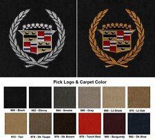 Lloyd Mats Vintage Cadillac Crest Velourtex 4pc Logo Floor Mats (1941-2001)