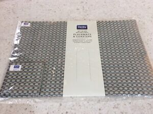6 Denby Woven Vinyl Placemats and Coasters