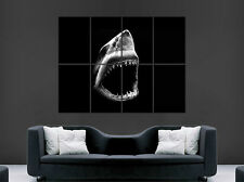 GREAT WHITE SHARK POSTER PREDATOR JAWS ART WALL PICTURE GIANT