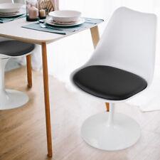 Elegant Swivel Side Chair Kitchen Dining Room Bar Metal Frame Upholstered Chairs