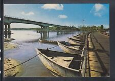 Cartolina Viadana Vecchio e Nuovo Ponte sul Po BARCHE CH278