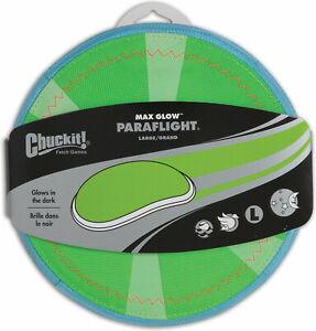 Chuckit! Max Glow Paraflight Dog Toy, Large, Green