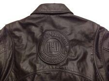 Harley Davidson Mens Ltd Ed CROSSOVER Black Leather Embossed HD Jacket Size L