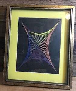 Vintage Mid Century Modern String Art Geometric 1970's