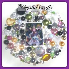 Disney Villains Theme Cabochon Gem & Pearl Flatbacks For Decoden Crafts #3