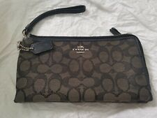 Coach Double Zip Large Wristlet