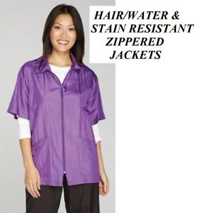 Purple GROOMER STYLIST BARBER JACKET Coat Hair Water Soil Stain Resistant NYLON