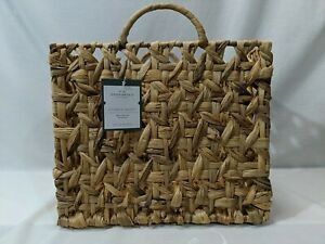 Large Milk Crate Water Hyacinth Storage Basket - Threshold