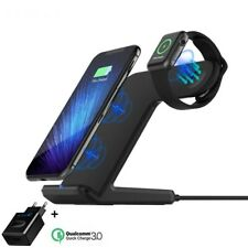Cargador Inalambrico para iPhone 8 Plus X XR Qi Wireless Charge For Apple Watch
