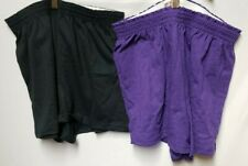 Soffe Juniors Athletic Short, Black/Purple, Medium