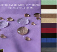 SCOTCHGARD FABRIC W/UPHOLSTERY PROTECTOR AND STAIN REPELLANT SUEDE FABRIC BTY