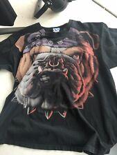 Vintage Rare 1999 Liquid Blue Bulldog All Over Print 90's T-Shirt Xl Usa