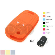 Blue Silicone Case Cover For Chevrolet Spark 2 Buttons Remote Flip Key CHE2BU