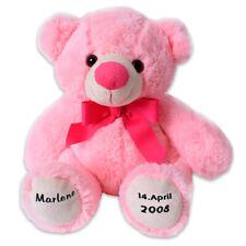 Teddybär Teddy Bär Kuscheltier Namen Geburtsdatum Personalisiert 24 cm Rosa