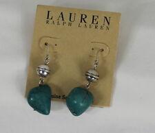 Ralph Lauren Turquoise Earrings Blue Silver Semi-Precious